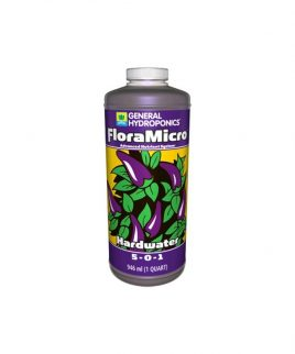 Hydrorobic Grow Shop Online | FLORA MICRO HARDWATER 1L